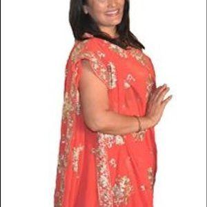 Bollywood style Peach / orange saree